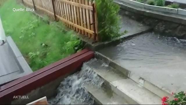 Heftige Überschwemmungen in Wauwil
