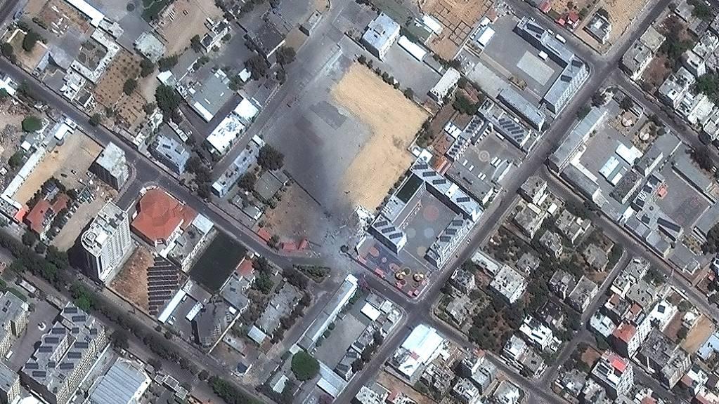 Ein Sicherheitskomplex liegt nach einem israelischen Luftangriff in Trümmern.