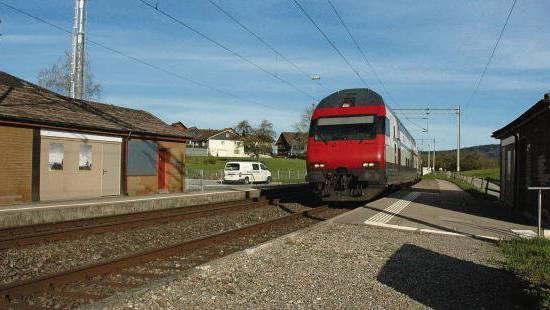 Der Bahnhof Algetshausen ist seit 2013 nicht mehr in Betrieb.