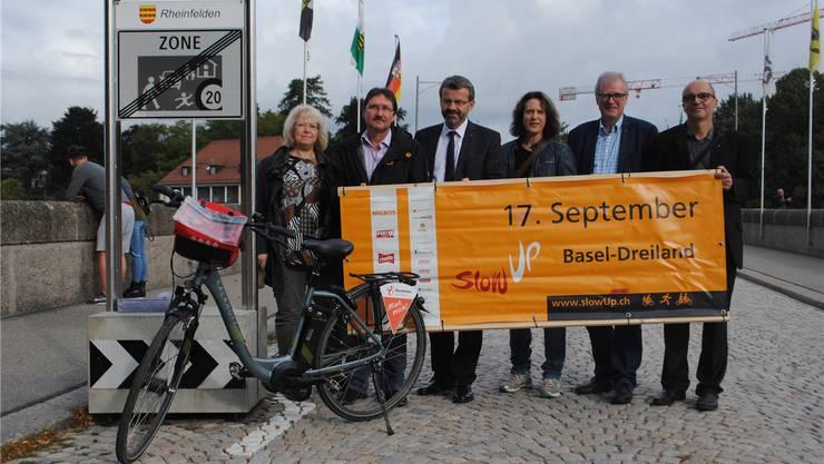 Am 17. September findet zum elften Mal der slowUp Basel-Dreiland statt. In Rheinfelden präsentierten die Verantwortlichen die Details. Nadine Böni