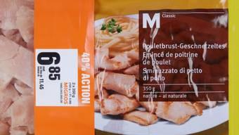 Die Migros ruft eine Charge eines Poulet-Produkts zurück. Es könne sein, dass es  Metallstücke enthält, teilte Migros mit.