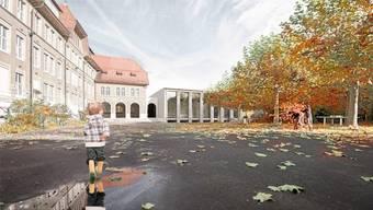 Doppelturnhalle Hermesbühl - über sie stimmen die Stadtsolothurner am 28.September ab