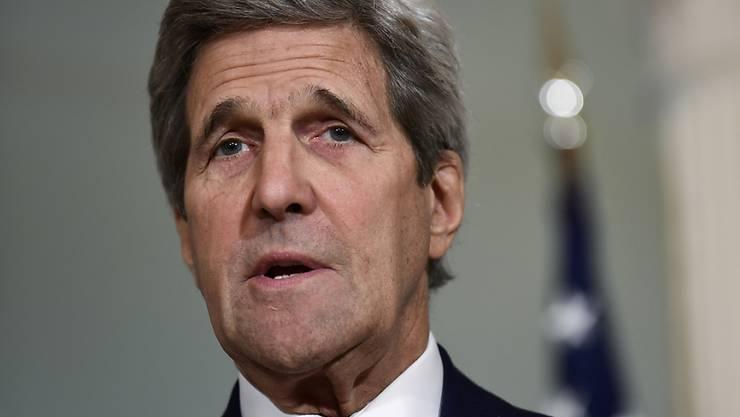 US-Aussenminister John Kerry: Er will sich in Genf mit weiteren Aussenministern um Frieden in Syrien bemühen. (Archivbild)