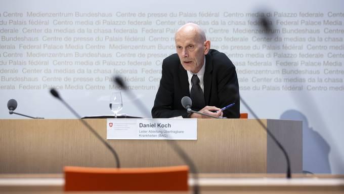 Daniel Koch, Leiter Abteilung Übertragbare Krankheiten des BAG, an einer der vielen Medienkonferenzen der letzten Tage und Wochen.