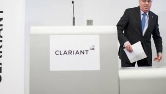 Clariant will bei der Untersuchung der EU-Kommission mit der Behörde zusammenarbeiten. Im Bild ist Hariolf Kottmann, CEO des Chemiekonzerns. (Archiv).