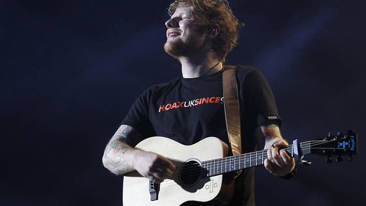 """Ob Ed Sheeran für """"Photograph"""" bei den Komponisten von """"Amazing"""" abgeschrieben hat, wird man nie erfahren: Der Rechtsstreit wurde durch einen Vergleich beigelegt. (Archivbild 8.4.2017)"""