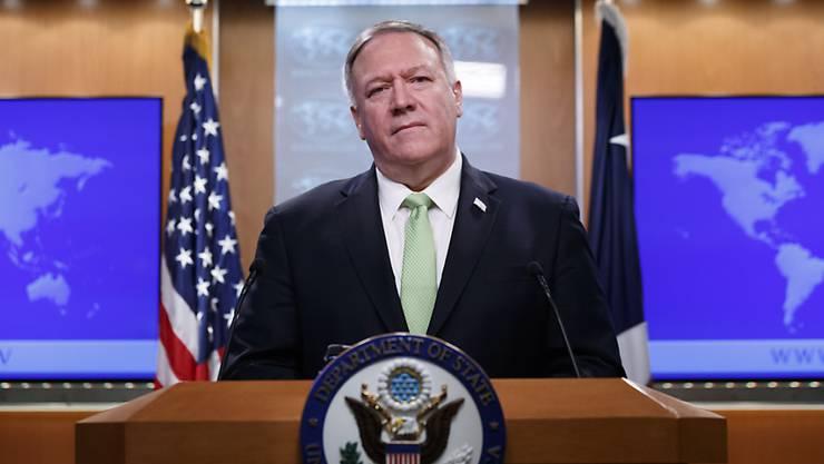 US-Aussenminister Mike Pompeo hat die Islamische Republik Iran erneut vor einer Eskalation des Konfliktes im Nahen Osten gewarnt. (Archivbild)