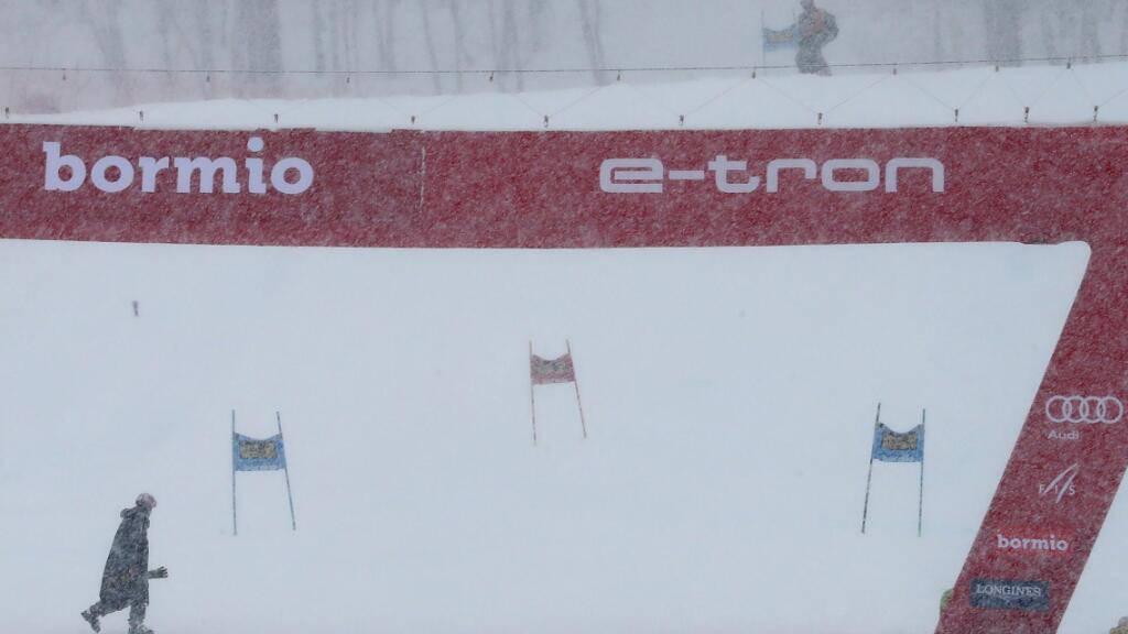 Schneefälle verhindern den Super-G der Männer am Montag in Bormio