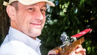 Michael Oberlin: «Ich hatte nicht die besten Schüsse, aber stets gute. Ich schoss konstant.»Bild: Nicole Nars-Zimmer (Liestal, 9.September 2019)
