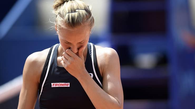 Das gab Viktorija Golubic zu denken: Niederlage in zwei Sätzen und in beiden Sätzen zwei Satzbälle vergeben