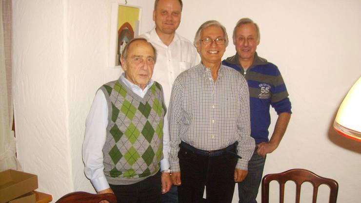 Die alten Vorstands-Mitglieder (von links) Peter Dietiker, Urs Cueni, Herbert Krause und Heinz Lüscher.