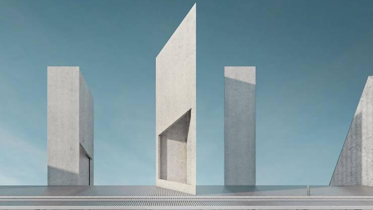 So soll das neue Kunsthaus Baselland auf dem Dreispitzareal dereinst aussehen.