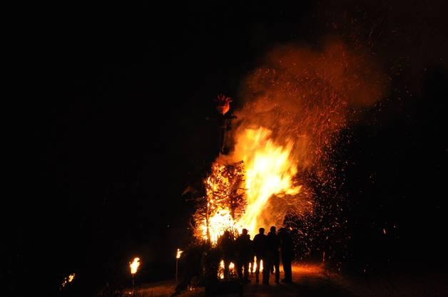 Da hatte der Böög noch gut lachen - bald darauf war er verbrannt