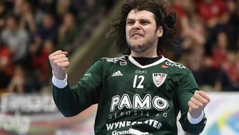 Der für die zweite Halbzeit eingewechselte Dario Ferrante war mit einer Abwehrquote von 43 Prozent massgeblich am Playoff-Auftaktsieg des HSC Suhr Aarau beteiligt.