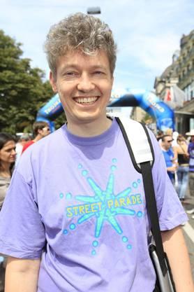 Street Parade Gründer Marek Krynski an der Jubiläumsausgabe der Parade