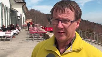 Tourismusdirektor Jürgen Hofer auf dem Weissenstein.