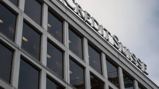 Blick auf das Logo der Credit Suisse (Archiv)