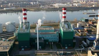 Bild eines Gaskraftwerks.