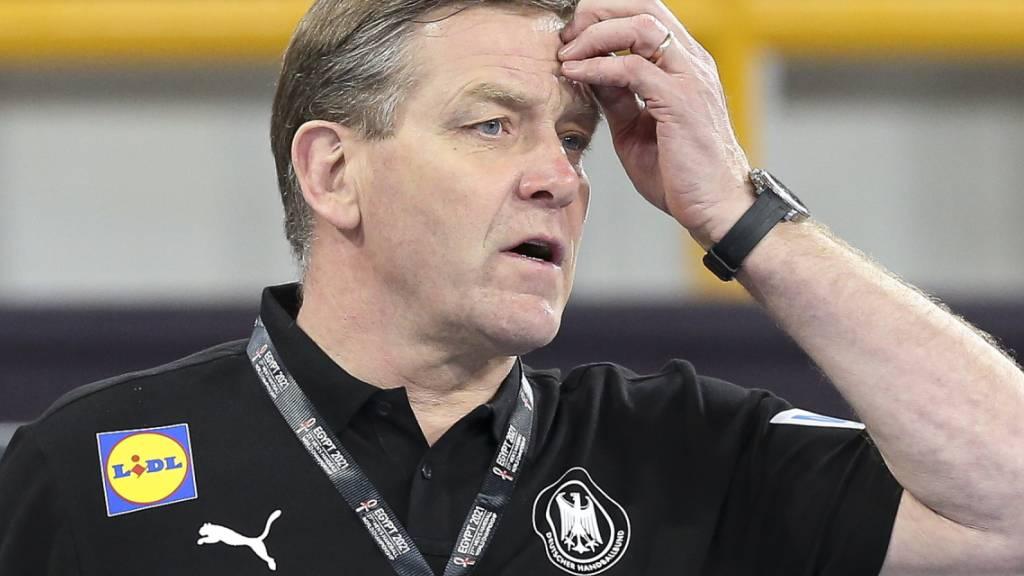 Grössere Sorgenfalten: Deutschlands Coach Alfred Gislason hat kaum noch Chancen, die Viertelfinals zu erreichen