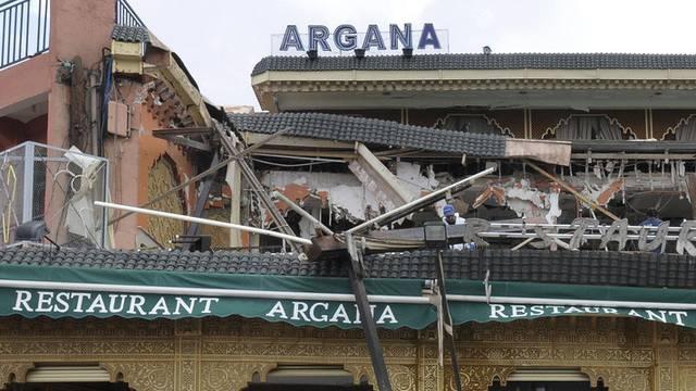 Das zerstörte Café nach dem Attentat vor einem Jahr (Archiv)