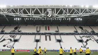 Die Young Boys am Dienstag beim Training im Turiner Stadion