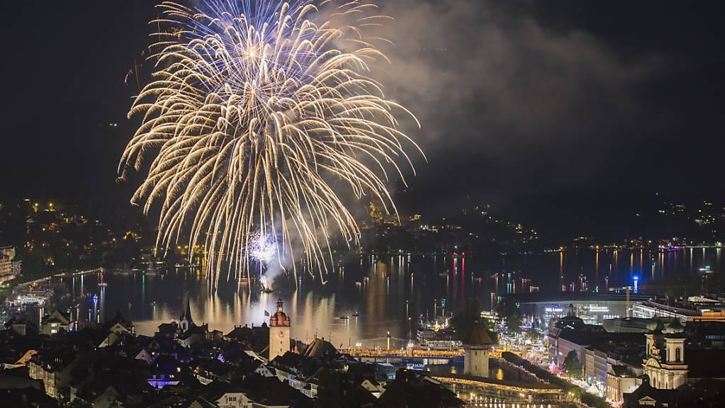 Feuerwerk zum Abschluss: 2018 fand das vorerst letzte Luzerner Fest statt, die Wiederaufnahme ist auf 2022 verschoben. (Archivbild)