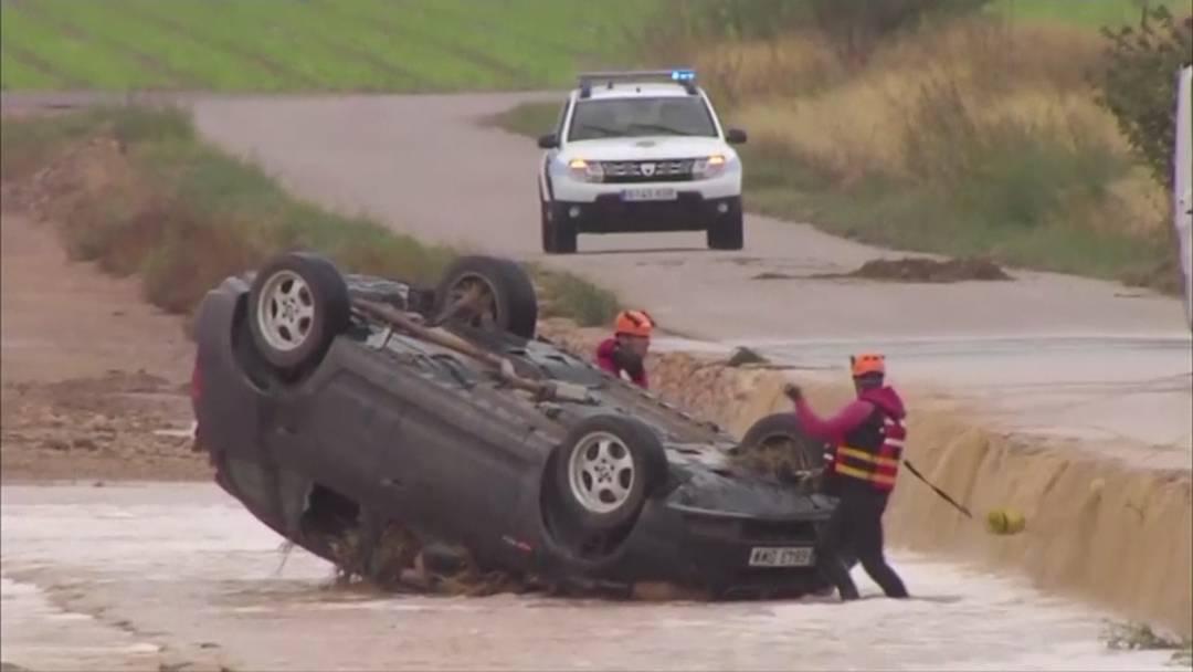 Zwei Menschen sterben bei Überschwemmungen in Spanien