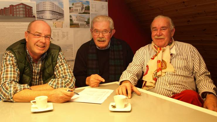 Drei Banause-Generationen: Von links Heinz Neuenschwander, Sigi Meier und Massimo Hauswirth hub