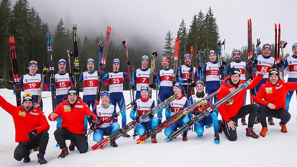 Das Schweizer Langlauf-Team freut sich auf fünf Heimrennen