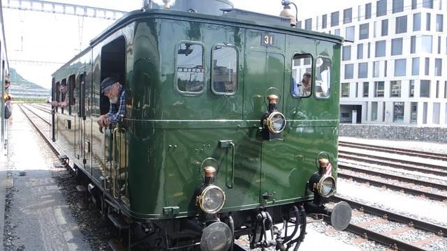 Voller Dampf voraus: Eindrücke von den historischen Bahnfahrten in Brugg.