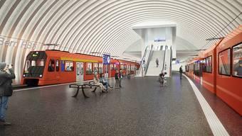 Visualisierungen des neuen Bahnhof Bern 2025