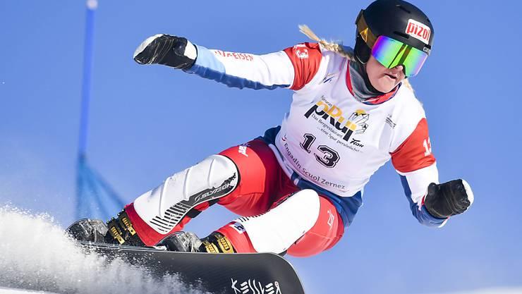 Julie Zogg gewann vor Jahresfrist an den Freestyle-Weltmeisterschaften in Park City die Goldmedaille im Parallel-Slalom