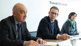 """Vertreter von Travail.Suisse und dem Kaufmännischen Verband bezeichnen die AHV-Steuervorlage als """"wichtigen Kompromiss"""" und empfehlen ein Ja am 19. Mai."""