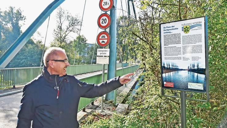 Daniel Gubler setzt sich als Präsident von «Öisi Aare» für eine saubere und gepflegte Flusslandschaft ein. (Archiv: Oktober 2019)