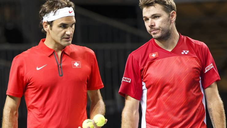 Könnten in Wimbledon im Viertelfinal aufeinandertreffen: Federer und Wawrinka