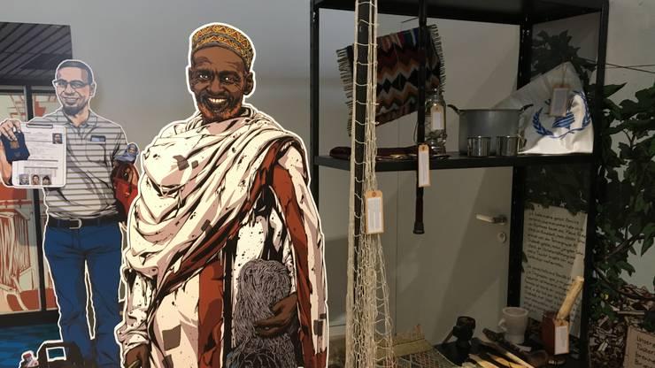 Einblick in die Austellung zum Thema «Flucht» im Stadtmuseum Aarau