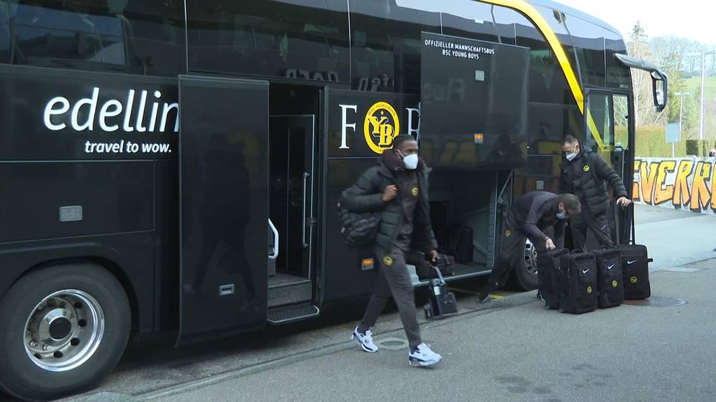 YB zum Rückspiel gegen Leverkusen aufgebrochen