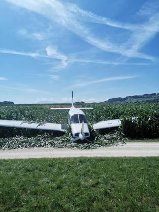 Das Motorflugzeug vom Typ Piper Warrior hatte in der Luft plötzlich einen Motorausfall zu beklagen.