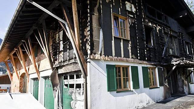 Haus Vasellas nach Brandanschlag