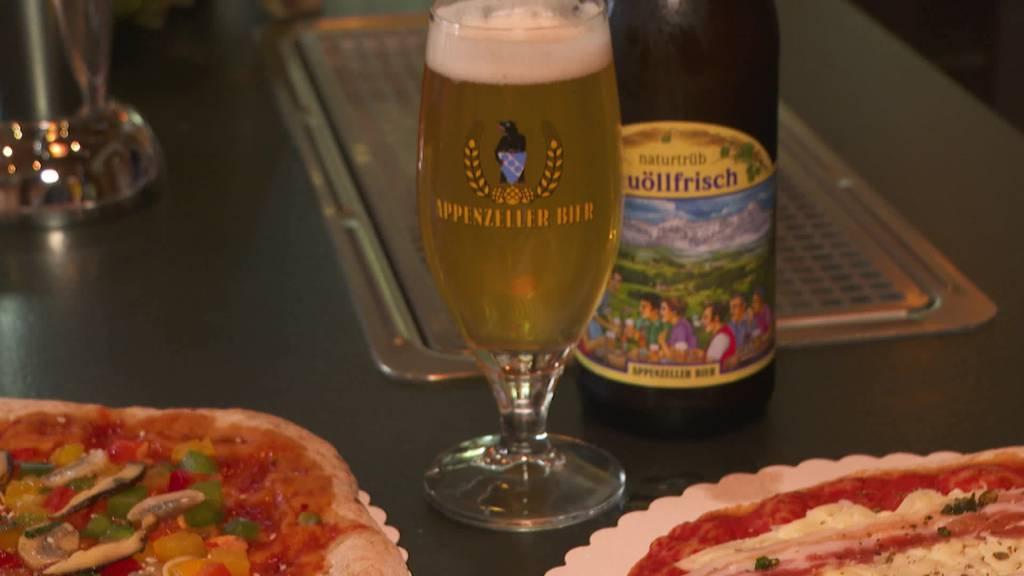 Gegen Food Waste: Brauerei Locher macht aus Bier jetzt Pizza