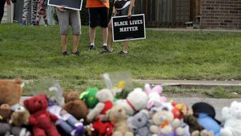 Gedenken in Ferguson an den erschossenen Michael Brown.