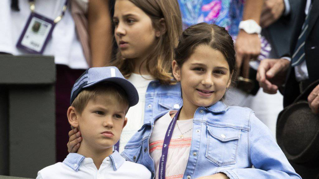 Auch die Kinder von Roger Federer wohnten der Partie ihres Vaters auf dem Centre Court bei