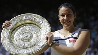 Marion Bartoli nach ihrem Wimbledon-Triumph vor drei Jahren