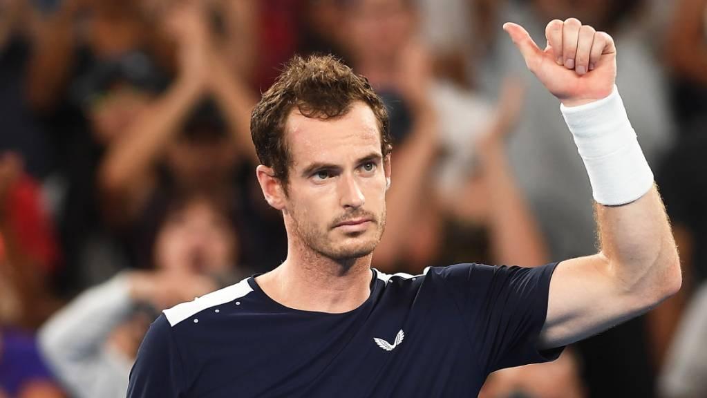 Andy Murray nach seiner Erstrunden-Niederlage in Melbourne im Januar 2019.