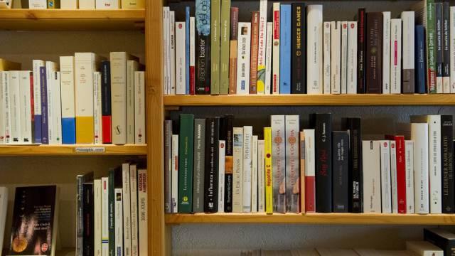 Büchergestell in einer Buchhandlung (Archiv)