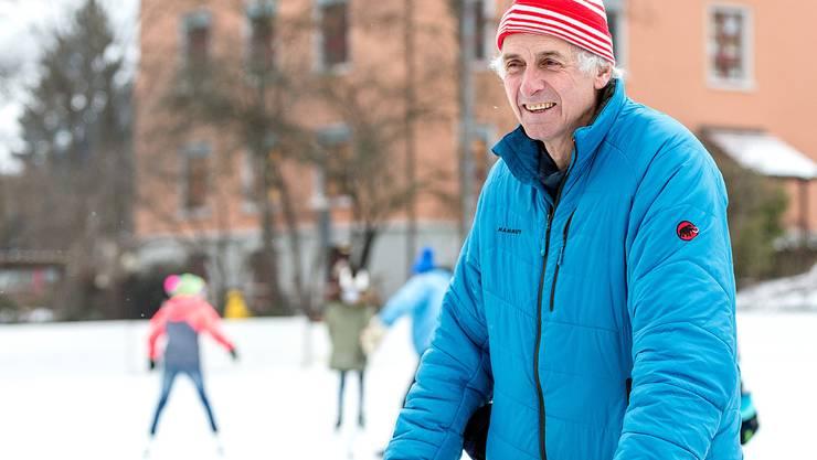 Schon seit rund 50 Jahren ist Werner Fink der Eismeister des Natureisfeldes.