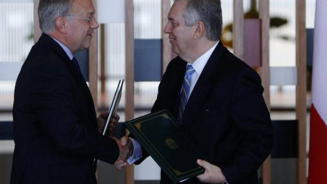 Schneider-Ammann mit dem brasilianischen Aussenminister Figueiredo