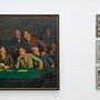 Die «Sitzung der Kunstkommission» in der Ausstellung «Hell Dunkel» in der Galerie Müller in Basel. (zvg)