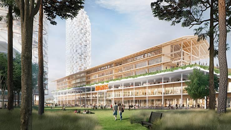 Die Schule soll direkt über dem M-Parc-Dreispitz entstehen.