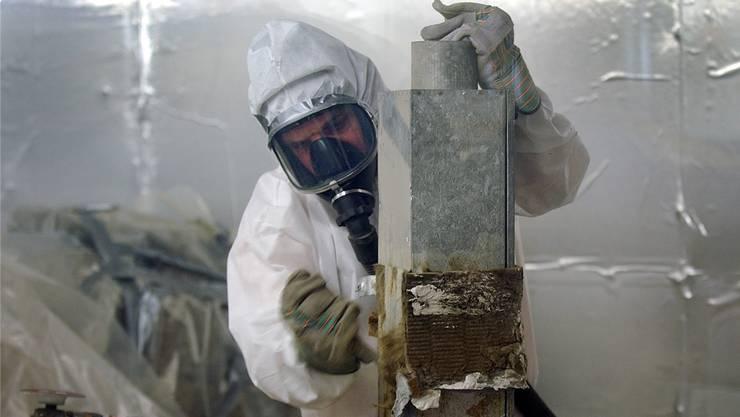 Es dauert 20 bis 40 Jahre, bis eine Krankheit als Folge der Exposition von Asbest ausbricht. Eddy Risch/Keystone